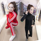 歐洲站新款運動休閒套裝女學生跑步長袖運動服顯瘦衛衣倆件套春秋