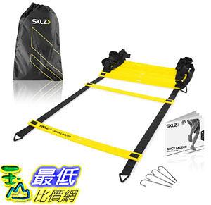 [104美國直購] SKLZ Quick Flat Rung Agility Ladder with Free SKLZ Carry Bag 訓練繩梯 籃球 田徑 慢跑重量訓練