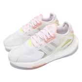adidas 休閒鞋 Day Jogger W 白 粉紫 粉紅 螢光黃 BOOST 女鞋 三葉草【ACS】 GW4914
