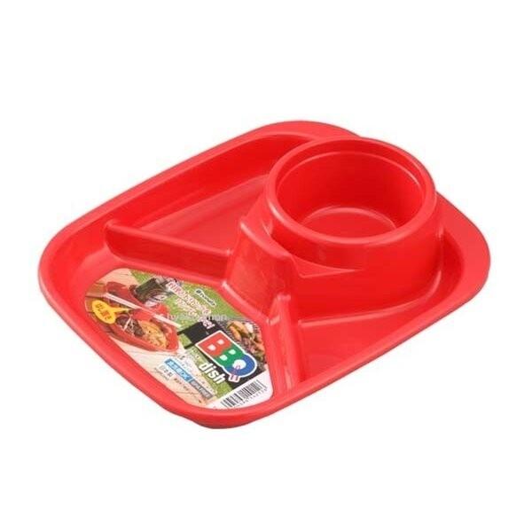 【日本製】【Inomata】日本製 烤肉野餐餐盤 方型 紅色(一組:10個) SD-13710 - Inomata
