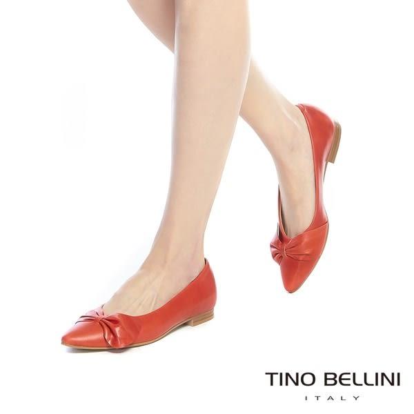 Tino Bellini義大利進口典雅領結尖頭娃娃鞋_ 黑 A73002 歐洲進口款
