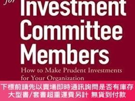 二手書博民逛書店The罕見Handbook For Investment Committee MembersY256260 R