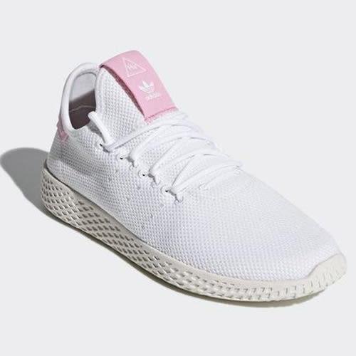 【折後2380】adidas PW TENNIS HU W 菲董聯名愛迪達白色休閒運動鞋 粉色三葉草休閒鞋 DB2558