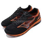 【六折特賣】Mizuno 慢跑鞋 Wave Amulet 7 Wide 黑 橘 美津濃 男鞋 運動鞋【PUMP306】 J1GA1682-09