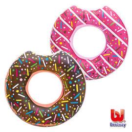 《Bestway》42吋甜甜圈充氣泳圈-巧克力/草莓 二款可選擇 (69-39064)