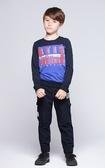 【BTIS】男細絨拼接圓領TEE
