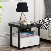 床頭櫃 床頭櫃簡約現代床邊收納櫃北歐簡易玻璃床邊櫃網紅創意邊櫃【美物居家館】