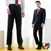 極品西服 形色簡約素色仿毛平面西褲_黑色(BS731-1)