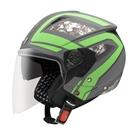 【東門城】ASTONE RST AQ6 (平光深灰/綠) 半罩式安全帽 雙鏡片
