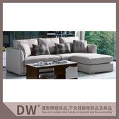 【多瓦娜】19058-324003 奧蘭多灰色L型沙發組(807-灰)(附輔助椅)