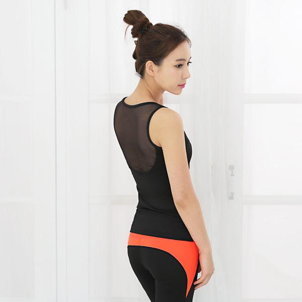 韓國健身瑜伽服上衣短袖女春夏健身房運動服跑步訓練速乾衣   - jrh004