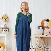【Tiara Tiara】漢神獨有 無袖牛仔風格吊帶洋裝(藍)