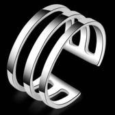 925純銀戒指 -簡約大方生日聖誕節禮物女配件73aq11【巴黎精品】