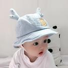 兒童遮陽帽 寶寶漁夫帽春秋遮陽盆帽可愛鹿角嬰兒帽子薄款正韓超萌男女童帽潮-Ballet朵朵