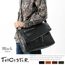 現貨【TRICKSTER】日本品牌 斜背包 折疊包 A4 大尺寸 側背包 復古皮革感 都會潮流【tr52】