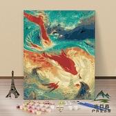 diy數字油畫手繪填色數碼油彩畫裝飾畫【步行者戶外生活館】