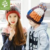 兒童帽子秋冬男女童帽子針織毛線帽