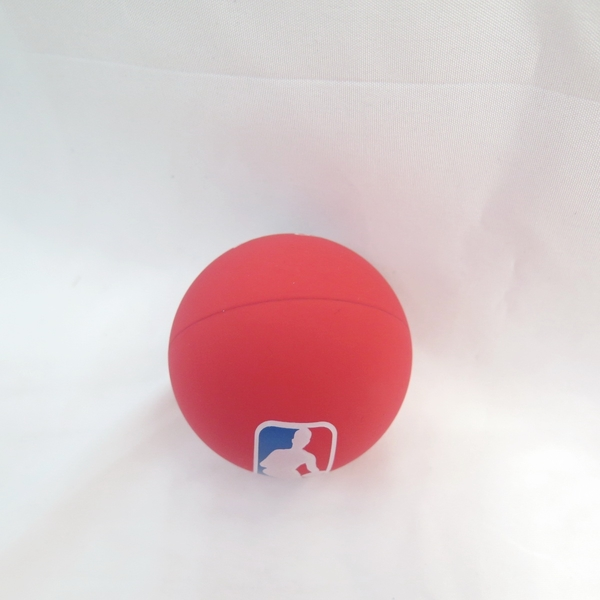 SPALDING 超彈力小球 - LOGOMAN SPA51212 紅 【iSport愛運動】