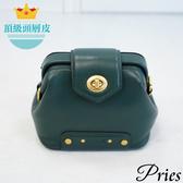 Pries【可愛爆爆包】頂級牛皮小方包 - 森林綠