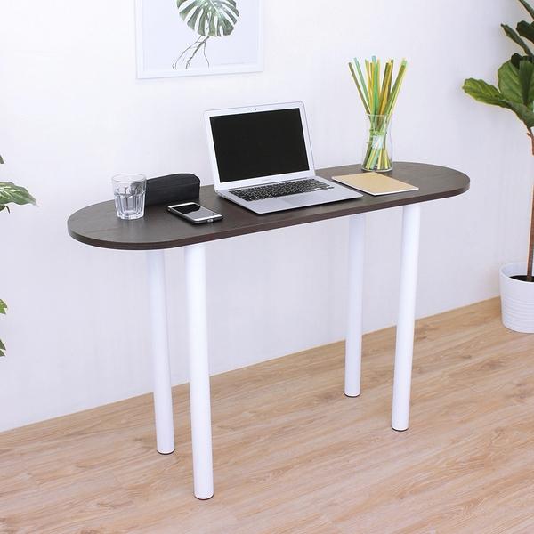 橢圓形餐桌 洽談桌 吧台桌(深40x寬120x高75/公分)PVC防潮材質(二色) MIT台灣製TB40120ROH-WF