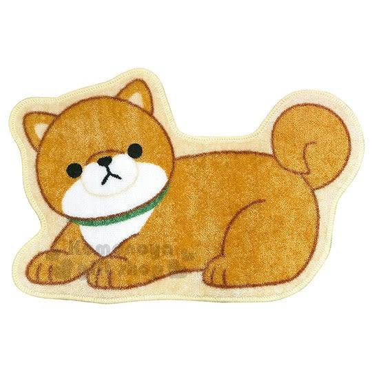〔小禮堂〕柴犬造型腳踏墊《咖.趴姿》42x64cm.地墊.地毯 4956019-11068
