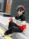 男童套裝 金絲絨套裝兒童冬季加絨童裝女童秋裝新款洋氣男童寶寶運動【快速出貨八折搶購】