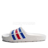 Adidas Duramo Slide [U43664] 男女 運動 涼鞋 拖鞋 休閒 舒適 輕量 白 藍 愛迪達
