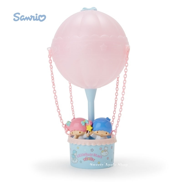 日本限定 KIKI & LALA 雙子星 熱氣球主題造型 夜燈 / 房間燈 / 裝飾燈 (USB充電或電池)