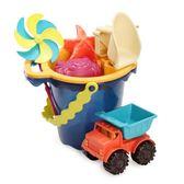 B.Toys沙灘玩具 兒童玩沙工具套裝 寶寶挖沙子玩具車 鏟子沙灘桶
