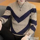 毛衣男冬季新款韓版修身潮流帥氣圓領男士針織衫休閒寬鬆套頭線衫  遇見生活