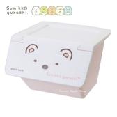 日本限定 SAN-X 角落生物 白熊 掀蓋式 桌上收納盒 / 小物收納盒