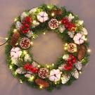 聖誕節 圣誕花環裝飾門掛diy材料 圣誕節裝飾品擺掛件禮物品藤條套餐掛飾