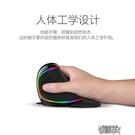 多彩RGB垂直立式滑鼠有線無線usb蘋果筆記本電腦台式設計師辦公人體工學大手托男女【全館免運】