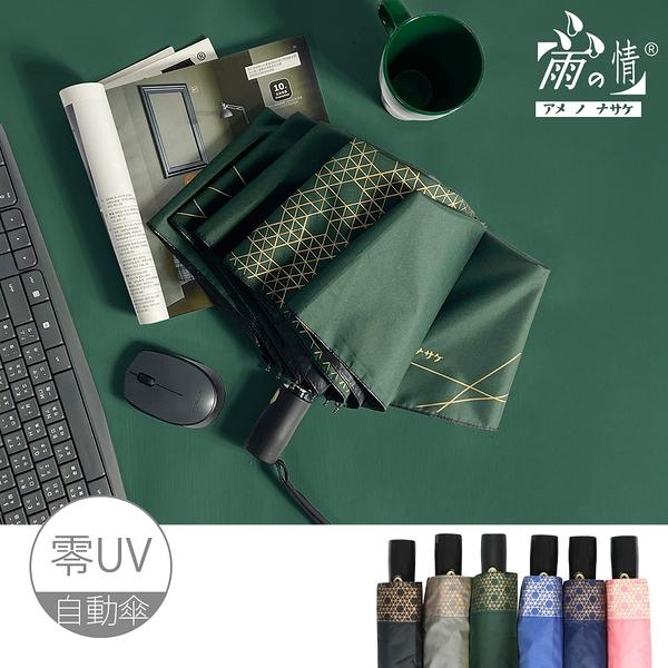 【台灣雨之情】防曬膠素色加大自動傘-6色-抗UV/零透光/輕巧大傘面