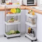 廚房置物架落地多層衛生間冰箱夾縫隙可移動帶輪小推車蔬菜收納架 米娜小鋪