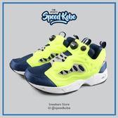 REEBOK 休閒鞋 Pump Fury 深藍螢光 男女 原版 OG  V66585【SP】