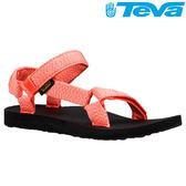 TEVA 《女款》30年經典復刻版水陸運動涼鞋Original Universal - 花紗珊瑚