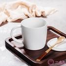 馬克杯 創意陶瓷杯咖啡勺套裝 純色簡約杯子水杯帶蓋勺咖啡杯牛奶杯 馬克杯