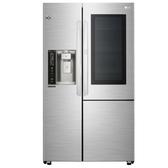 LG樂金761公升敲敲看門中門對開WIFI自動製冰門外取冰取水星辰銀冰箱GR-QPL88SV