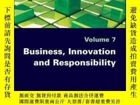 二手書博民逛書店Business,罕見Innovation and ResponsibilityY410016 Sophie