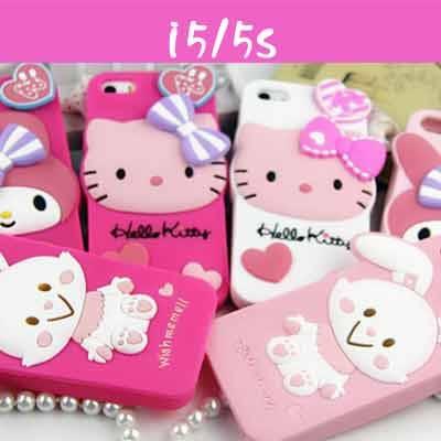 矽膠手機殼 iphone5/5S Hello kitty軟殼 -