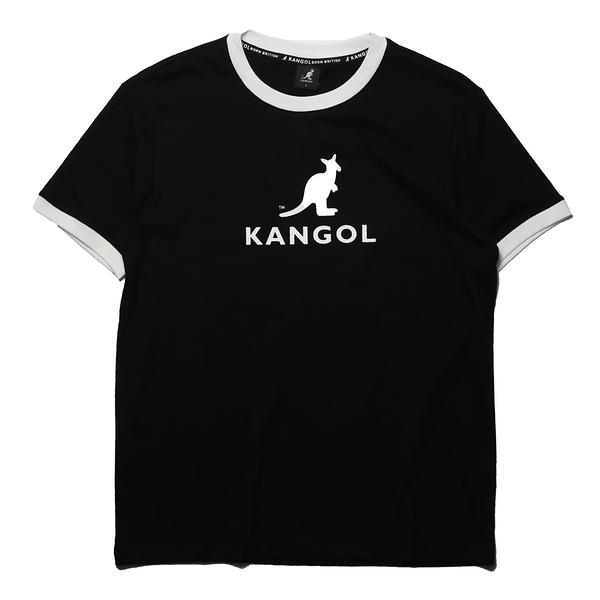 KANGOL 短袖 短T 袋鼠 黑 滾白邊 大LOGO 男 (布魯克林) 6125101420