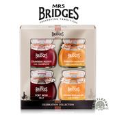 【MRS. BRIDGES】英橋夫人慶典果醬(113g*4)柑橘香檳、草莓香檳、柑橘威士忌、紅葡萄波特酒
