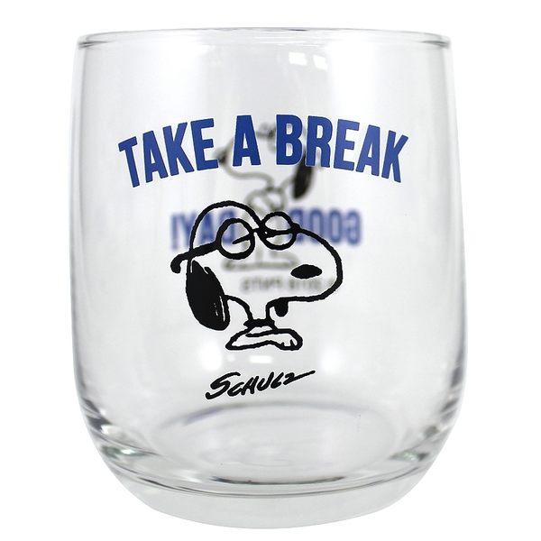 尼德斯Nydus 日本正版 史努比 Snoopy Peanut Woodstock 夏季限量 玻璃杯 水杯 藍
