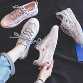 新款夏季透氣小白鞋女夏款百搭韓版網鞋網面鞋子休閒潮鞋