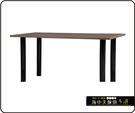 {{ 海中天休閒傢俱廣場 }} C-99 摩登時尚 餐桌系列 468-441 2X6尺美耐板餐桌/烤黑高腳(顏色可挑選)