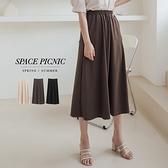 長裙 Space Picnic|素面腰鬆緊長裙(現+預)【C21031034】