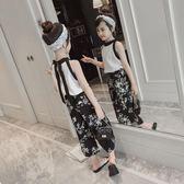 女童夏裝新款時髦套裝兒童韓版洋氣童裝中大童時尚雪紡兩件套 范思萊恩