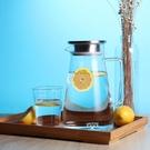 創意玻璃冷水壺耐熱防爆涼水壺大容量耐高溫家用果汁壺扎壺涼水瓶