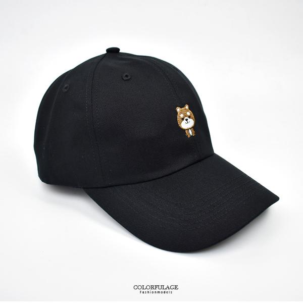老帽 日系質感電繡狗兒棒球帽NHA45